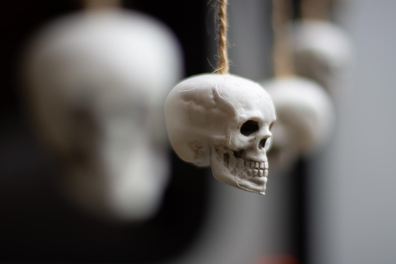 Hanging Halloween Skull